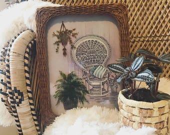 3D peacock chair art