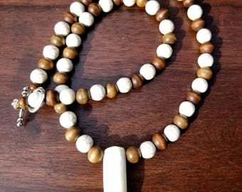 Alligator tooth necklace