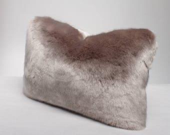 You're Invited Lumbar Fur Pillow