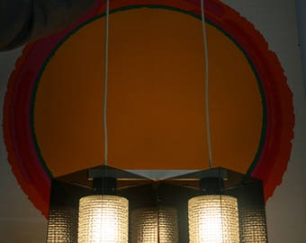 vintage mid century Lightolier architectural pendant ceiling hanging lamp