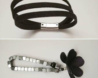 Gray beads bracelet