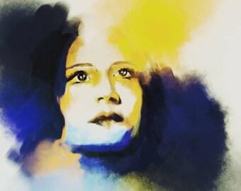 digital lady art