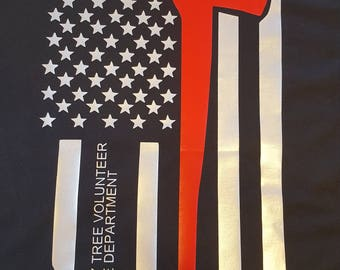 Personalized thin red line shirt
