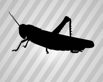 Grasshopper Silhouette Grass Hopper - Svg Dxf Eps Silhouette Rld RDWorks Pdf Png AI Files Digital Cut Vector File Svg File Cricut Laser Cut