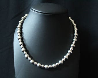 Handcrafted Artisan Jewelry, Silver Balled Necklace, Laos Jewelry, Connected Cosmos