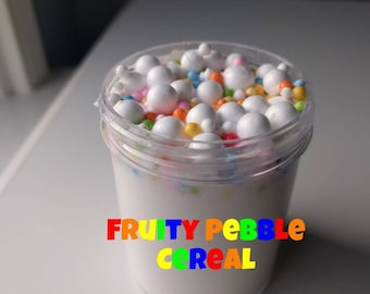 Slime~Fruity Pebble Cereal Thick Slime (SCENTED)