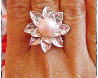 Handmade Pearl Sterling Silver Ring