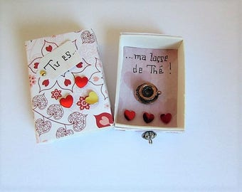 "Valentine's day: love message in box Matchbox ""teacup"""