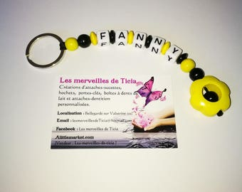 """Flower"" personalized key chain"