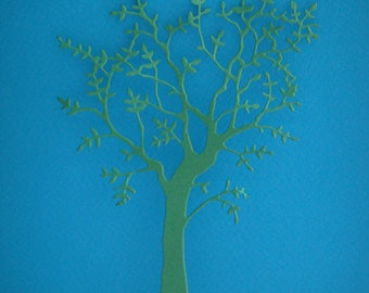 Cutout tree with green leaves only sheet foam for creation