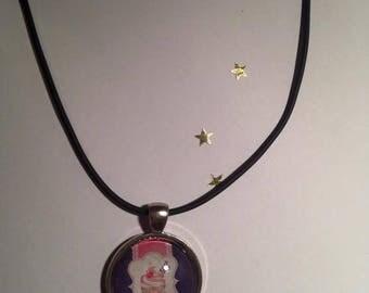 Rubber pendant 25 mm ICE CREAM Choker necklace