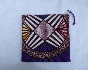 Small square African fabric for tote bag