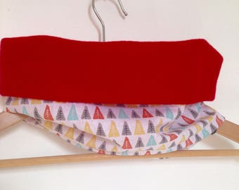 Snood red Choker and trees for child