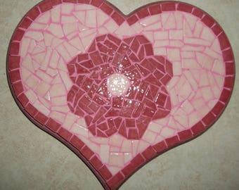 """""""Heart"""" made tile trivet"""