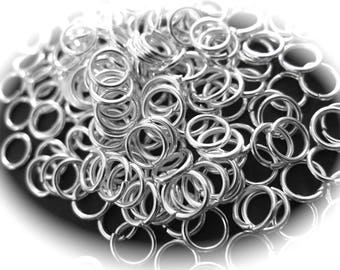 X 50 silver 6mm in diameter and 0.8 mm thick round rings