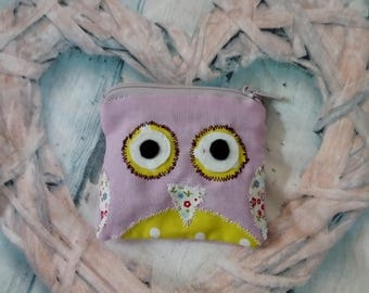 Purple OWL purse