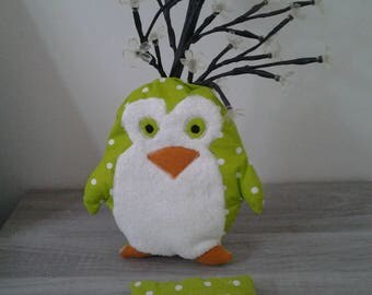 Hot/cold dry organic flax seeds Penguin