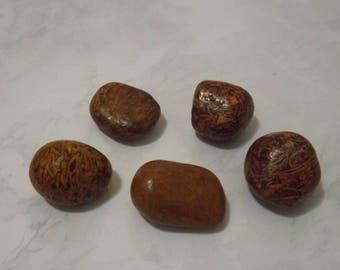 Pierre Calligraphie  - Lot de 5  pierres naturelles minérales pour confection