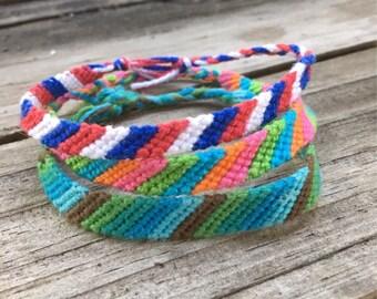 Custom Knotted Friendship Bracelet - Stripes