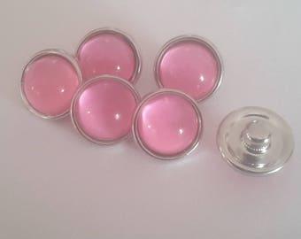 12mm MINI pink snaps