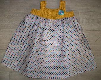 Child dress, girl's dress, dress peas