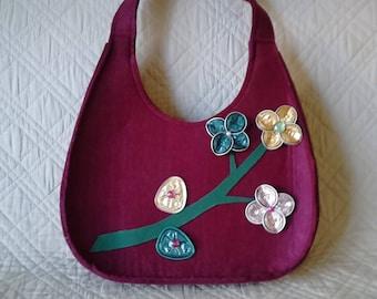 felt bag decorated by babette world: unique