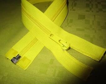 separable yellow nylon zip