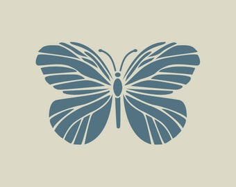 The butterfly. Adhesive vinyl stencil. (ref 161)