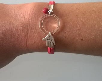 Set, bracelet, necklace and earrings
