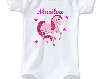 Bodysuit Unicorn personalized with name