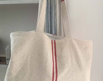 Tote bag, lined with cotton City whole thick canvas bag