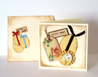 Easter and coordinated envelope card. hand made