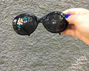 Embroidered Flower Sunglasses