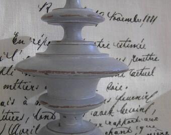 Top, 19th century, weathered gray Gustavian
