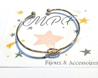 Bow gold Bangle Bracelet