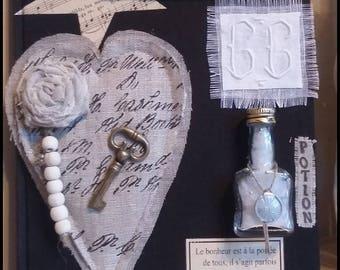 livre déco à poser sur le théme de l'Amour Bonheur Saint Valentin