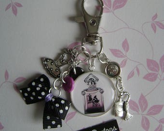 Keychain / bag charm the little black dress