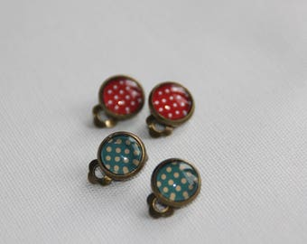 Set of two pairs of clip earrings