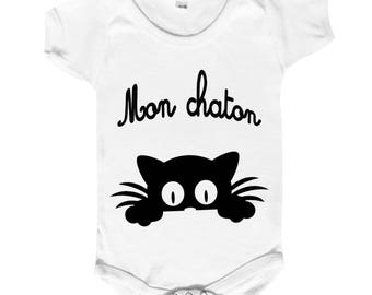 "Funny baby Bodysuit """" for our kittens! """""