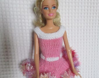 Pink dress, Barbie doll clothes