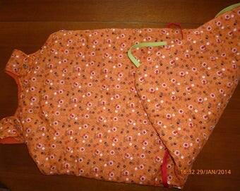 Sleeping bag print transformable orange in two sizes ref: 7170155