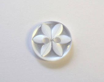 Button star 11 mm x 50 white 2 hole 11mm star - 001608