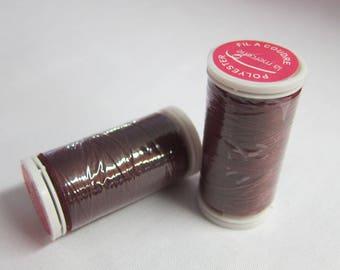Thread Burgundy 100% polyester 200 m