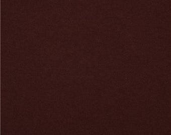 Plain chocolate brown 100% cotton fabric