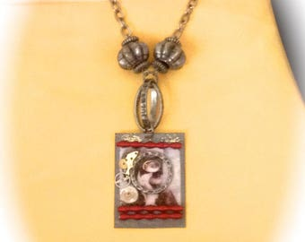 Necklace creator spirit steampunk look at the time vintage