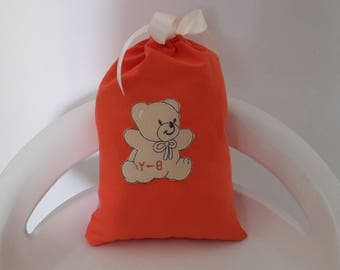 "Snack bag coral pattern ""Teddy"""