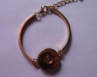 golden bracelet for snap 18mm / 20mm diameter