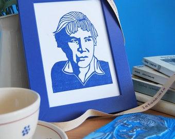 """Hand stamped portrait """"Natalia"""""""