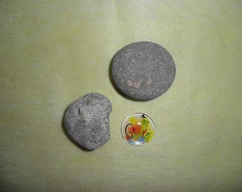 featuring abstract zen painting round 25 mm magnifying glass cabochon
