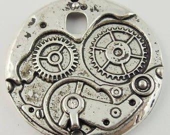 10 charms COG clockwork silver 38 * 3 * 38 mm